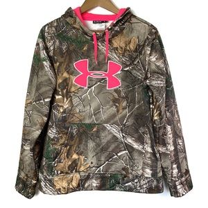 UNDER ARMOUR Cold Gear Camo Pullover Hoodie XL